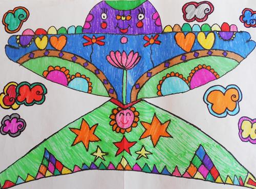 幼儿园手绘风筝画图片